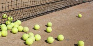mass of tennis balls