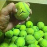 tennis balls on walker
