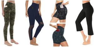 AFITNE Women's High Waist Mesh Leggings with Side Pockets