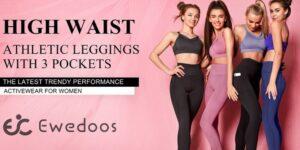 EWEDOOS Women's Leggings with Pockets