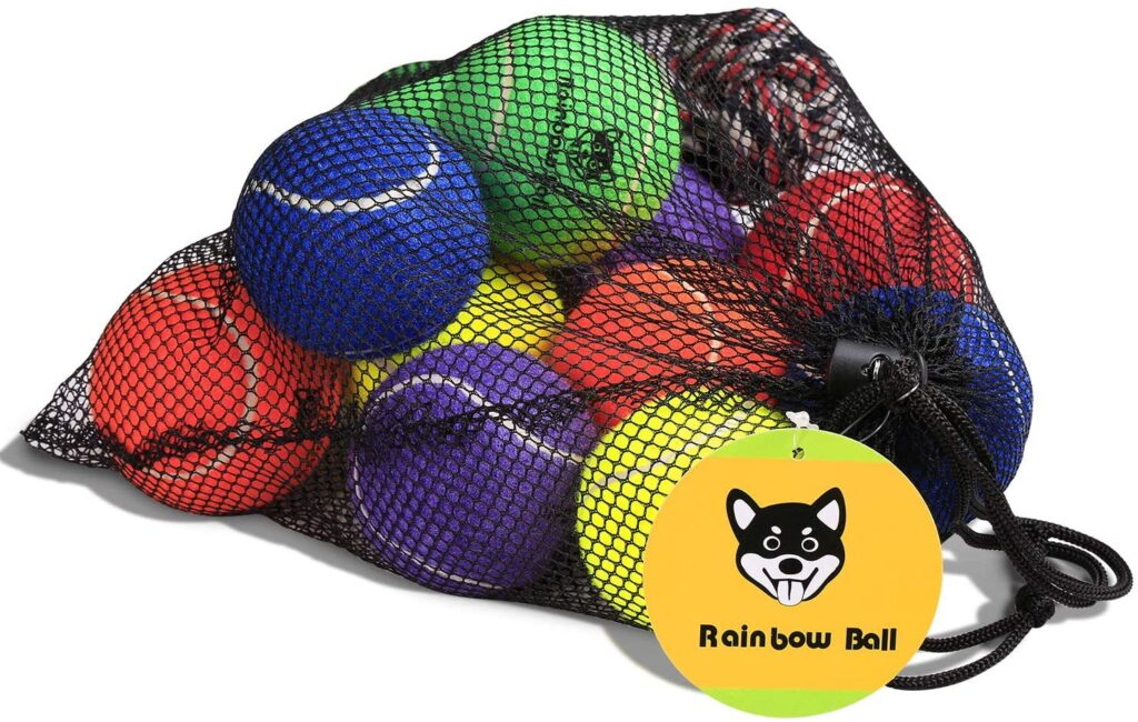 Rainbow Tennis Balls for Dogs