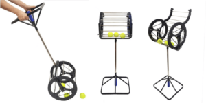 CHAOFAN 2 in 1 Tennis Balls Pickup Automatic Balls Receiver