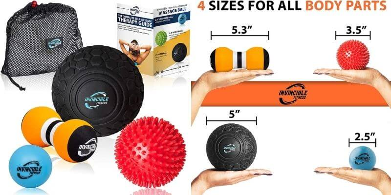 Invincible Fitness Deep Tissue Massage Ball Set
