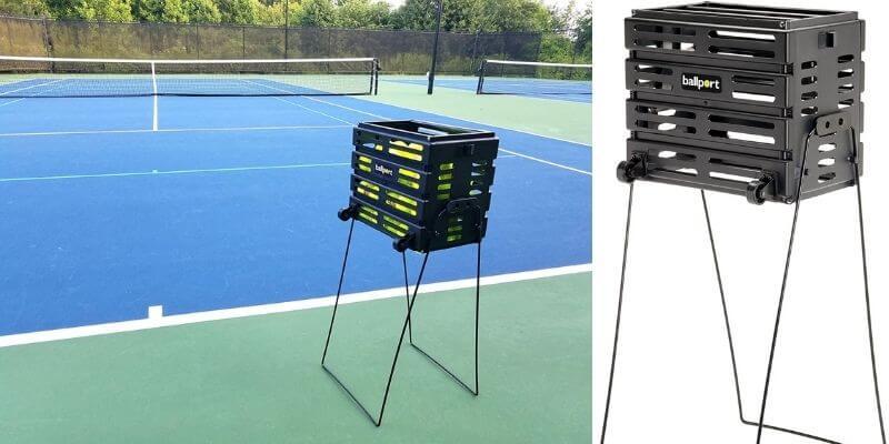 Tourna Ballport Deluxe Tennis Ball Hopper with Wheels